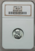 Lincoln Cents: , 1943-S 1C MS67 NGC. NGC Census: (1990/13). PCGS Population(1625/52). Mintage: 191,550,000. Numismedia Wsl. Price for probl...