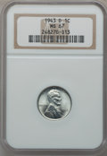 Lincoln Cents: , 1943-D 1C MS67 NGC. NGC Census: (3009/50). PCGS Population(2236/120). Mintage: 217,660,000. Numismedia Wsl. Price for prob...