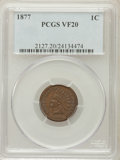Indian Cents: , 1877 1C VF20 PCGS. PCGS Population (124/1302). NGC Census:(75/848). Mintage: 852,500. Numismedia Wsl. Price for problem fr...