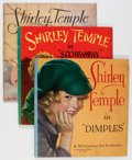 Memorabilia:Movie-Related, Shirley Temple Book Group (Saalfield, 1930s).... (Total: 5 Items)