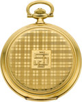 Timepieces:Pocket (post 1900), Longines Gent's 18k Gold Hunters Case. ...