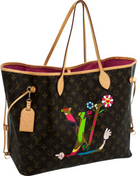 Louis Vuitton Limited Edition Takashi Murakami Neverfull GM Tote Bag, Special Edition for the Museum of Contemporary Art...