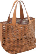 Luxury Accessories:Bags, Alaia Signature Beige Laser Cut Eyelet Large Tote Bag. ...