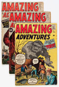 Silver Age (1956-1969):Science Fiction, Amazing Adventures #1, 3, and 5 Group (Marvel, 1961).... (Total: 3Comic Books)