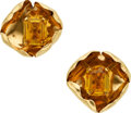 Estate Jewelry:Earrings, Citrine, Gold Earrings, Cartier. ...
