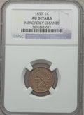 Indian Cents: , 1859 1C -- Improperly Cleaned -- NGC Details. AU. NGC Census:(3/17). PCGS Population (77/1861). Mintage: 36,400,000. Numis...