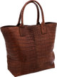 Bottega Veneta Matte Brown Crocodile Large Tote Bag