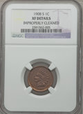 Indian Cents: , 1908-S 1C -- Improperly Cleaned -- NGC Details. XF. NGC Census:(161/778). PCGS Population (273/854). Mintage: 1,115,000. N...