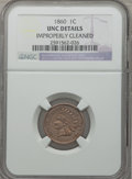 Indian Cents: , 1860 1C -- Improperly Cleaned -- NGC Details. UNC. NGC Census:(2/934). PCGS Population (11/1042). Mintage: 20,566,000. Num...