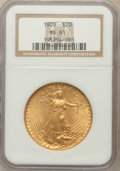 Saint-Gaudens Double Eagles: , 1909 $20 MS61 NGC. NGC Census: (284/672). PCGS Population(202/1460). Mintage: 161,282. Numismedia Wsl. Price for problemf...