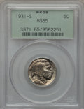 Buffalo Nickels: , 1931-S 5C MS65 PCGS. PCGS Population (1460/414). NGC Census:(701/64). Mintage: 1,200,000. Numismedia Wsl. Price for proble...