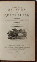 Books:Natural History Books & Prints, Thomas Bewick [illustrator]. A General History of Quadrupeds. Hodgson, et al., 1792. Third edition. Contemporary ful...