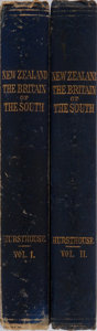 Books:World History, Charles Hursthouse. New Zealand, or Zealandia, the Britain ofthe South. Vol. I & II. Stanford, 1857. 2 folding ...(Total: 2 Items)