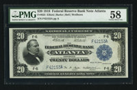 Fr. 823 $20 1918 Federal Reserve Bank Note PMG Choice About Unc 58