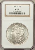 Morgan Dollars: , 1880-S $1 MS62 NGC. NGC Census: (3261/118469). PCGS Population(4699/124430). Mintage: 8,900,000. Numismedia Wsl. Price for...