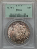 Morgan Dollars: , 1879-S $1 MS65 PCGS. PCGS Population (22834/8147). NGC Census:(21359/9085). Mintage: 9,110,000. Numismedia Wsl. Price for ...