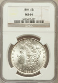 Morgan Dollars: , 1884 $1 MS64 NGC. NGC Census: (6586/2162). PCGS Population(5305/2486). Mintage: 14,070,875. Numismedia Wsl. Price for prob...