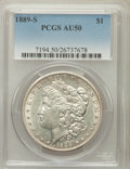 Morgan Dollars: , 1889-S $1 AU50 PCGS. PCGS Population (143/7739). NGC Census:(63/4950). Mintage: 700,000. Numismedia Wsl. Price for problem...
