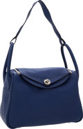 Luxury Accessories:Bags, Hermes 30cm Blue Brighton Clemence Leather Lindy Bag with PalladiumHardware. ...