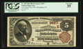 National Bank Notes:Pennsylvania, Philadelphia, PA - $5 1882 Brown Back Fr. 469 The Fourth Street NBCh. # (E)3557. ...