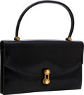 Luxury Accessories:Bags, Hermes Black Calf Box Leather Sac Escale Bag with Gold Hardware....
