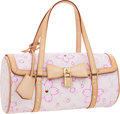Luxury Accessories:Bags, Louis Vuitton Takashi Murakami Pink Cherry Blossom Canvas PapillonBag. ...