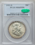 Franklin Half Dollars: , 1952-D 50C MS65 Full Bell Lines PCGS. CAC. PCGS Population(655/67). NGC Census: (263/15). Numismedia Wsl. Price for probl...