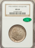 Commemorative Silver: , 1926 50C Sesquicentennial MS64 NGC. CAC. NGC Census: (1781/287).PCGS Population (2030/296). Mintage: 141,120. Numismedia W...