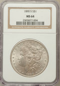 Morgan Dollars: , 1890-S $1 MS64 NGC. NGC Census: (2121/419). PCGS Population(2890/800). Mintage: 8,230,373. Numismedia Wsl. Price for probl...