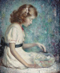 American:Portrait & Genre, MURRAY PERCIVAL BEWLEY (American, 1884-1964). Goldfish. Oilon canvas. 30 x 25 inches (76.2 x 63.5 cm). Signed lower rig...