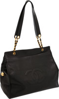 Luxury Accessories:Travel/Trunks, Chanel Black Caviar Leather Oversize Tote Bag. ...
