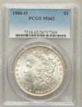 Morgan Dollars: , 1880-O $1 MS62 PCGS. PCGS Population (2446/3472). NGC Census:(1854/2908). Mintage: 5,305,000. Numismedia Wsl. Price for pr...