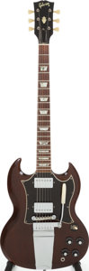 Musical Instruments:Electric Guitars, 1969 Gibson SG Standard Walnut Solid Body Electric Guitar, Serial #893480. ...