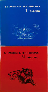 Le Corbusier. Sketchbooks. Vol. 1 & 2. MIT Press, 1981. First edition, first printin