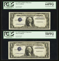 Error Notes:Inverted Third Printings, Fr. 1613W $1 1935D Silver Certificates. Two Consecutive Examples.PCGS Choice About New 58PPQ/Very Choice New 64PPQ.. ... (Total: 2notes)