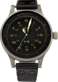 Timepieces:Wristwatch, A. Lange & Söhne Extremely Rare German Military Watch WithMirrored Seconds, circa 1940. ...