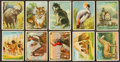 Non-Sport Cards:Lots, 1910-Era Hassan Tobacco card Collection (58) - From Six Series. ...