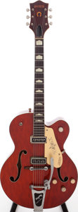Musical Instruments:Electric Guitars, 1957 Gretsch Model 6120 Orange Semi-Hollow Body Electric Guitar,Serial # 23216....
