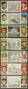 Baseball Cards:Lots, 1912 T202 Hassan Triple Folders Collection (7). ...