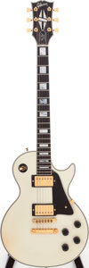 Musical Instruments:Electric Guitars, 1989 Gibson Les Paul Custom White Solid Body Electric Guitar, Serial # 81799550....