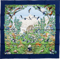 "Luxury Accessories:Accessories, Hermes Blue, White & Green ""Sichuan,"" by Robert Dallet Silk Scarf. ..."
