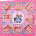 "Luxury Accessories:Accessories, Hermes Pink & Gold ""Les Muserolles,"" by Christiane VauzellesSilk Scarf. ..."
