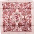 "Luxury Accessories:Accessories, Hermes Mauve ""Les Chants du Henne,"" by Laurence Bourthoumieux SilkScarf. ..."