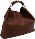 Luxury Accessories:Bags, Gucci by Tom Ford Natural Brown Leather Horsebit Hobo Bag. ...