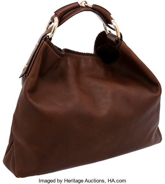 c594ee724f7d Gucci by Tom Ford Natural Brown Leather Horsebit Hobo Bag. ...