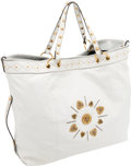 Luxury Accessories:Bags, Gucci Heritage Collection White Leather Irina Tote Bag. ...