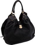 Luxury Accessories:Bags, Louis Vuitton Black Mahina Perforated Monogram Leather XL Hobo Bag....