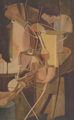 MARCEL DUCHAMP (French, 1887-1968) and JACQUES VILLON (French, 1875-1963) Mariée (Bride), 1934 Aquatint in colors...