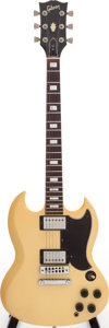 Musical Instruments:Electric Guitars, 1977 Gibson SG Standard White Solid Body Electric Guitar, Serial #06137769....