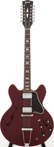 Musical Instruments:Electric Guitars, 1968 Gibson ES-335TD-12 Sparkling Burgundy Semi-Hollow Body12-String Electric Guitar, Serial # 876609. ...